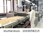 production of pralines in a... | Shutterstock . vector #1033058215