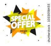 special offer  sale tag  banner ... | Shutterstock .eps vector #1033058455