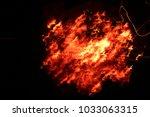 coal dance in fire | Shutterstock . vector #1033063315
