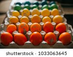colorful easter eggs | Shutterstock . vector #1033063645