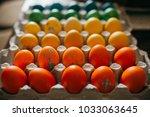 colorful easter eggs | Shutterstock . vector #1033063645