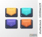 four separate black rectangles... | Shutterstock .eps vector #1033066129