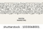digital marketing banner... | Shutterstock .eps vector #1033068001