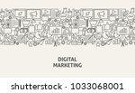digital marketing banner... | Shutterstock .eps vector #1033068001