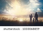 the family life journey concept ... | Shutterstock . vector #1033068859
