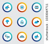 air icons colored set with... | Shutterstock .eps vector #1033069711