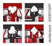 set of poker cards casino | Shutterstock .eps vector #1033071097