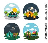 collection vacations scenes... | Shutterstock .eps vector #1033071409