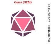 vector gems  gem  digital... | Shutterstock .eps vector #1033074589