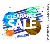 clearance sale  banner design... | Shutterstock .eps vector #1033075699