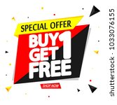 buy 1 get 1 free  sale tag ... | Shutterstock .eps vector #1033076155