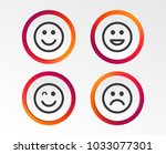 smile icons. happy  sad and... | Shutterstock .eps vector #1033077301