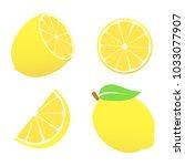 lemon icons set | Shutterstock .eps vector #1033077907