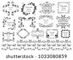 set of vector graphic elements... | Shutterstock .eps vector #1033080859