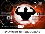 bodybuilding. vector... | Shutterstock .eps vector #103308641