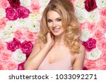 beauty happy model girl with... | Shutterstock . vector #1033092271