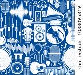 retro styled vector music... | Shutterstock .eps vector #1033095319