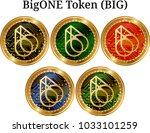 set of physical golden coin...   Shutterstock .eps vector #1033101259