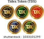 set of physical golden coin...   Shutterstock .eps vector #1033101295