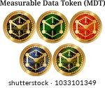 set of physical golden coin...   Shutterstock .eps vector #1033101349