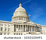 united states capitol building...   Shutterstock . vector #1033103491