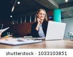 successful female grapic... | Shutterstock . vector #1033103851