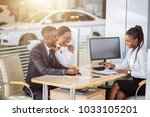 auto business  sale and people... | Shutterstock . vector #1033105201