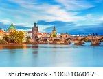 scenic view on vltava river and ... | Shutterstock . vector #1033106017