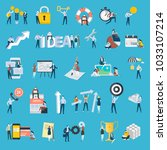 set of flat design style people ... | Shutterstock .eps vector #1033107214