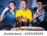 soccer or football fans... | Shutterstock . vector #1033109035