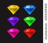 set of 6 diamonds | Shutterstock .eps vector #1033109305