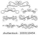 set of decorative flourish... | Shutterstock .eps vector #1033110454
