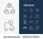 commerce icon set and card with ...