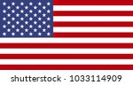 american flag of the united... | Shutterstock . vector #1033114909