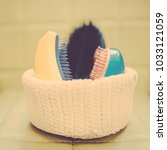 Basket With Combs And Round...