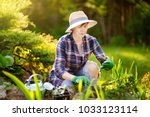 portrait of smiling beautiful... | Shutterstock . vector #1033123114