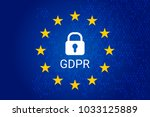 gdpr   general data protection... | Shutterstock .eps vector #1033125889