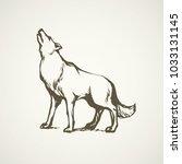 furry gray canidae lagopus... | Shutterstock .eps vector #1033131145