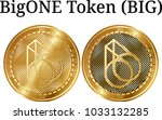 set of physical golden coin...   Shutterstock .eps vector #1033132285