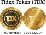 set of physical golden coin...   Shutterstock .eps vector #1033132309