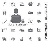 businessman lapta glass of tea... | Shutterstock .eps vector #1033133515
