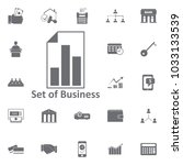 chart document icon. simple... | Shutterstock .eps vector #1033133539