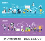 flat design style web banners... | Shutterstock .eps vector #1033133779
