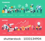 flat design style web banners... | Shutterstock .eps vector #1033134904