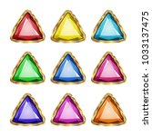 colored gemstones set in gold.... | Shutterstock .eps vector #1033137475