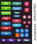 cartoon mobile game user... | Shutterstock .eps vector #1033137907