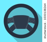 steering wheel single icon in... | Shutterstock . vector #1033138264