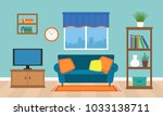 a cozy interior of the living... | Shutterstock .eps vector #1033138711