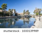 Small photo of SANTA EULARIA DES RIU, SPAIN- JANUARY 12, 2018: River view, the only river on the island.Santa Eularia des Riu, Ibiza, Spain.