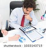 business people working in...   Shutterstock . vector #1033143715